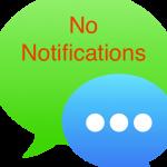 [iPhone] メッセージの通知が突然出なくなった!
